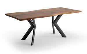 Joker, Tavolo con piano in legno impiallacciato