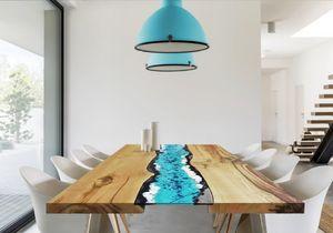 Life Oceanside, Tavolo con inserto in pietra lavica