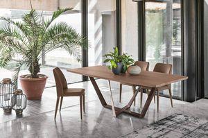 PRIAMO 230 TP162, Tavolo dal design con linee eleganti e pulite