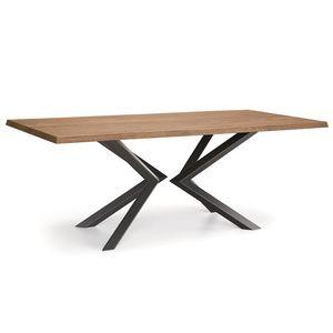Shift-U, Tavolo con piano in legno massello