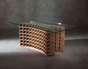 CI/ST�, Basamento per tavolo con portabottiglie