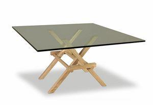 Leonardo 5709/F, Tavolo con gambe ad incastro