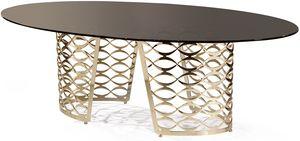 Isidoro tavolo, Tavolo moderno ovale