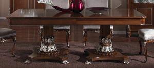 3625 TAVOLO, Tavolo allungabile in legno, prezzo outlet