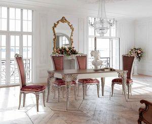Tavolo rettangolare allungabile e sedie, Tavolo e sedie da pranzo outlet