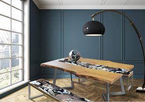 Life Highlands, Tavolo con base in acciaio inox
