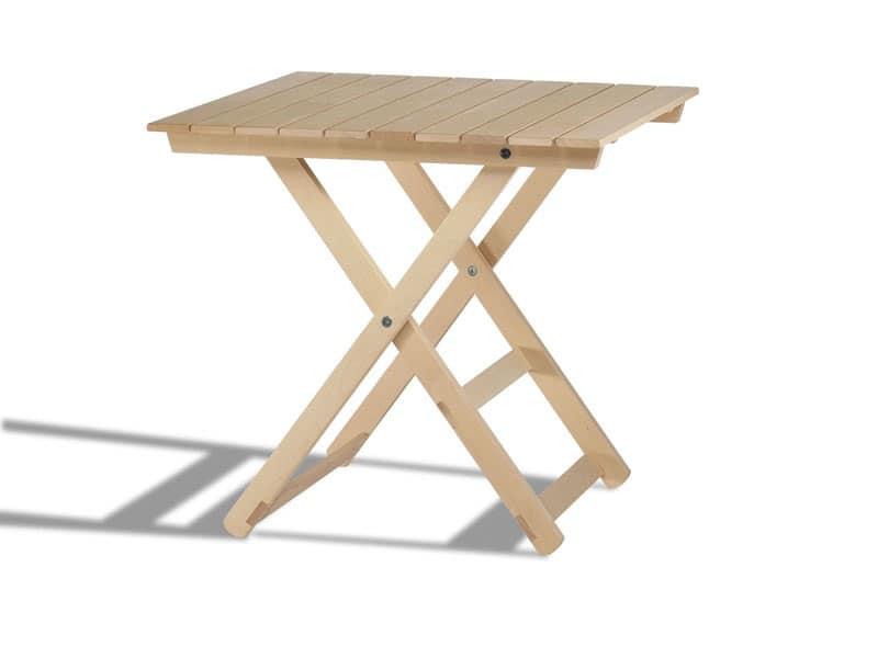 Anni 60, Tavoli chiudibili in legno, per interni ed esterni