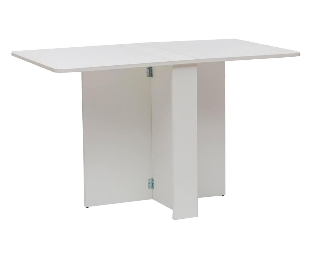 Art. 749 Snack, Tavolo in legno bianco, richiudibile