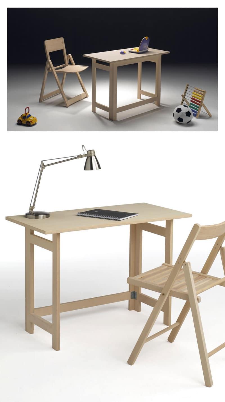 Desk, Scrivania salvaspazio, per albergo e camera