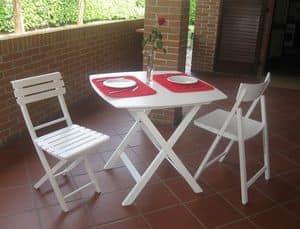 Kimono tavolo, Tavolo pieghevole in multistrato di faggio