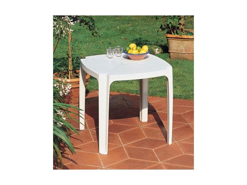 Tavolo 75x75, Tavolo realizzato in resina per giardini