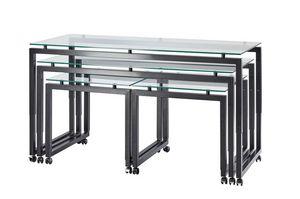 Buffet-Roll, Tavoli con ruote, regolabili in altezza