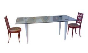 XC-06, Tavolo con piano in vetro