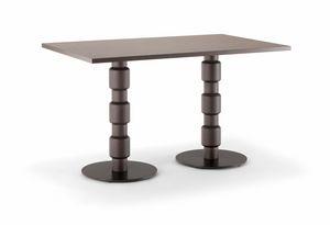 BERLINO TABLE 080 D H75, Tavolo rettangolare per ristorante