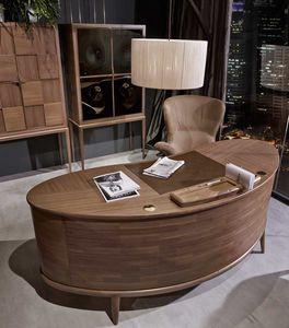 Monteverdi scrivania, Scrivania dal design arrotondato