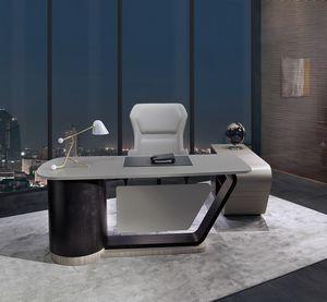 SC30 Century scrivania, Scrivania con piano in pelle