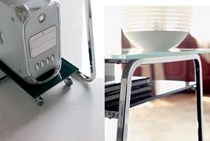 a104 clever, Scrivania porta PC con due piani
