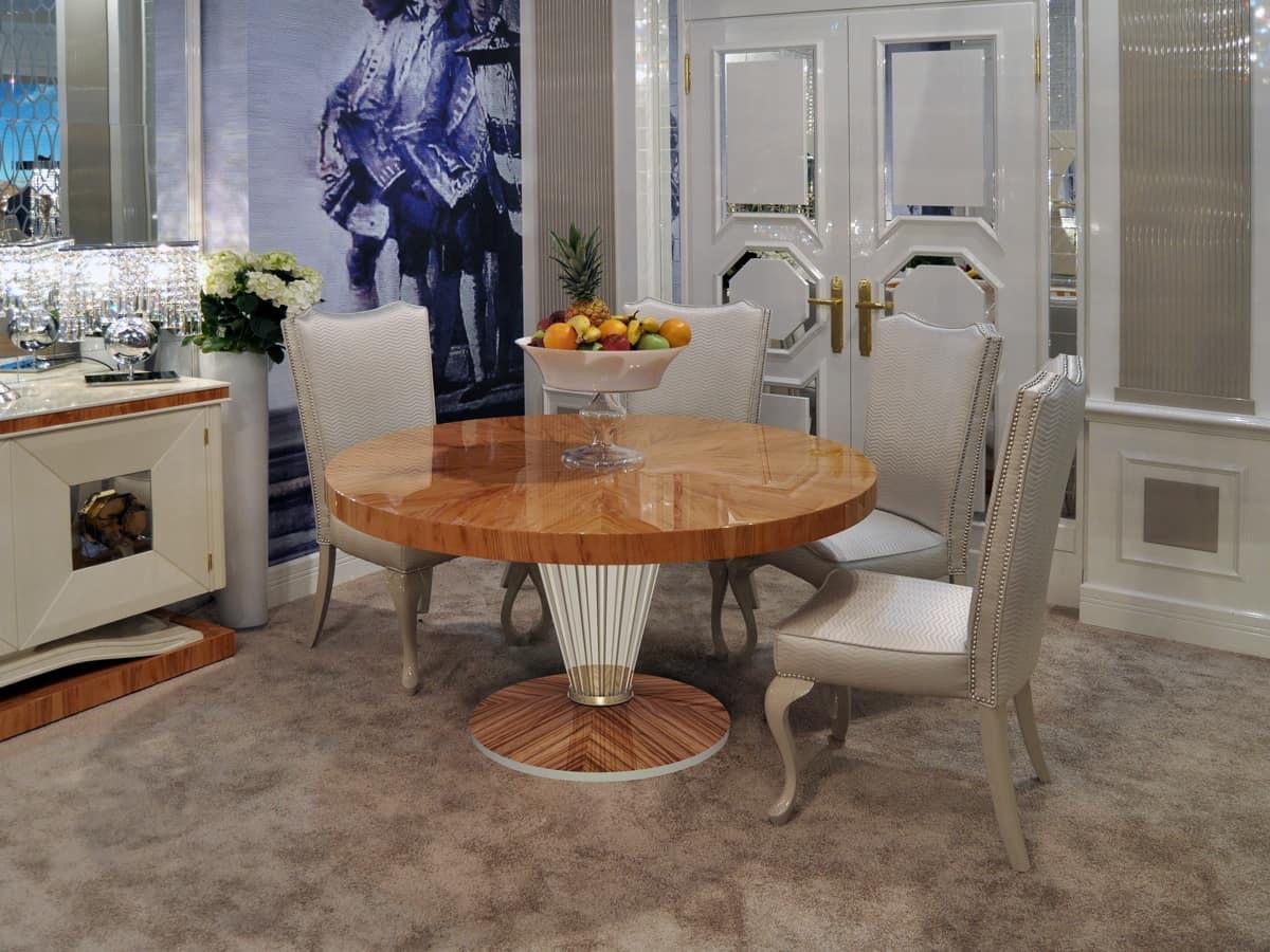 Tavoli Eleganti Sala Da Pranzo tavolo tondo, per sala da pranzo | idfdesign