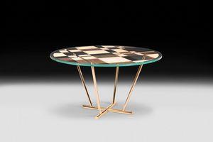 Piet, Tavolo rotondo dal design moderno ed elegante