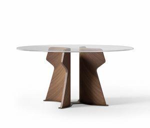 TA70 TA71 TA72 Shape tavolo, Tavolo con piano tondo