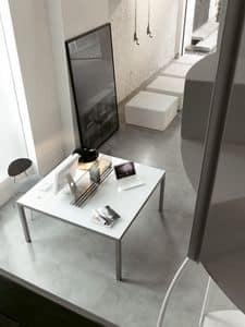 dl50 detroit, Tavolo essenziale di design, quadrato, per ufficio