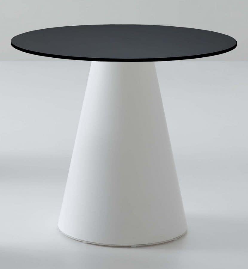 Roller tavolo 56, Tavolino da bar, in plastica, design