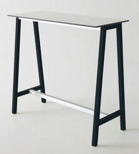 Step, Tavolo alto in metallo sovrastampato, per bar