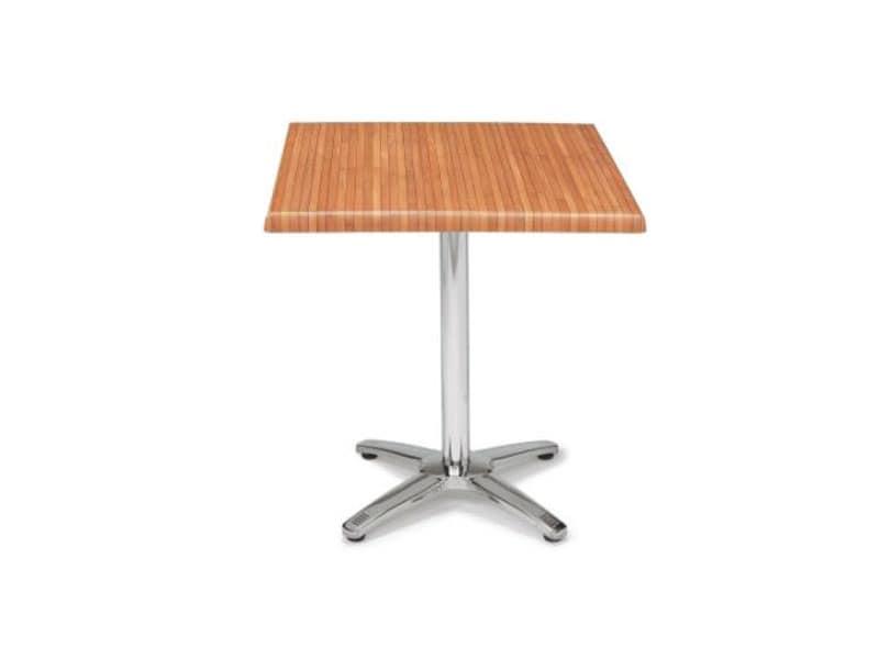 FT 048, Tavolino pieghevole da bar, piano quadrato werzalit
