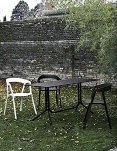 Poule rectangular, Tavolino da bar pieghevole, in alluminio leggero