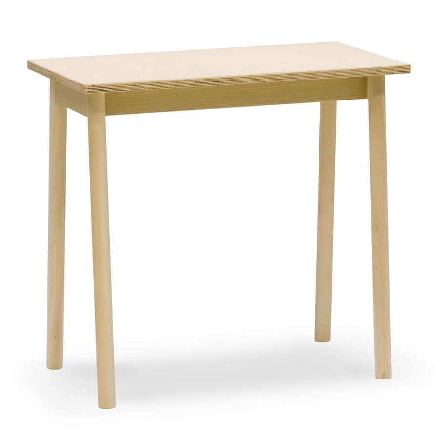 Tavolino Desk, Tavolino in legno di faggio, ideale per bar e osterie
