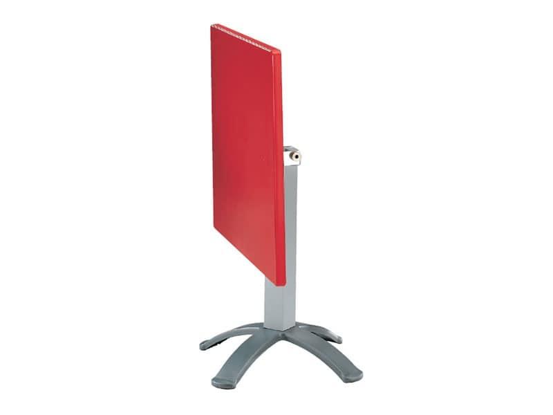 Tavolo 80x80 cod. 23/BG4P, Tavolo pieghevole in polimero e alluminio, per esterni