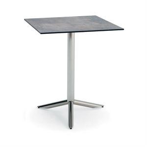 Vortice Q, Tavolino per uso contract, piano quadrato