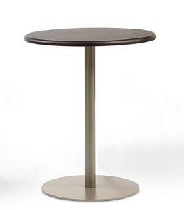 BASIC 855, Tavolo tondo con base in metallo