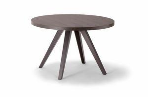 MILANO TABLE 083 H44 T, Tavolino tondo in legno