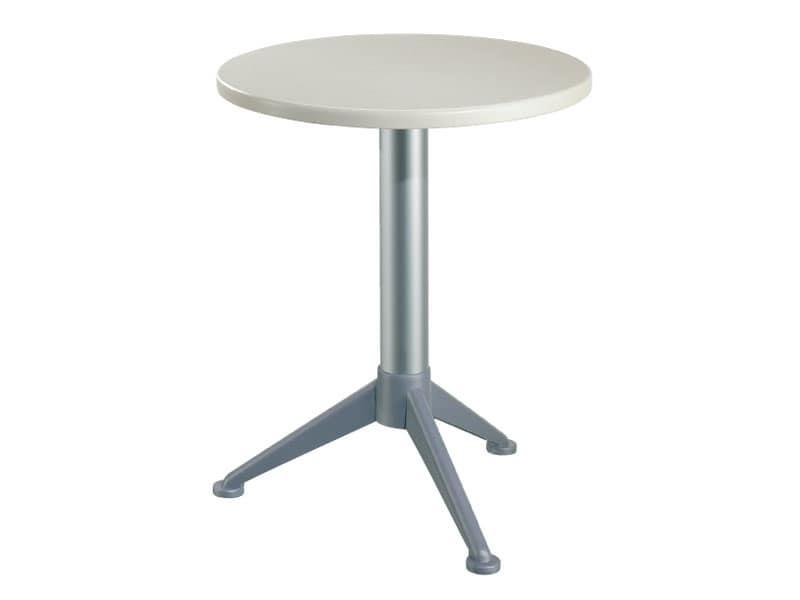 Tavolo Ø 60 cod. 04/BG3A, Tavolino rotondo  per bar e ristoranti all'aperto
