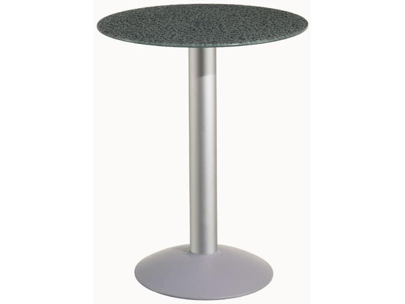 Tavolo Ø 60 cod. 05/BTV, Tavolino tondi con base in alluminio, per giardino e piscina