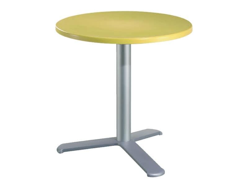 Tavolo Ø 72 cod. 03/BG3L, Tavolino da bar in alluminio e tecnopolimero