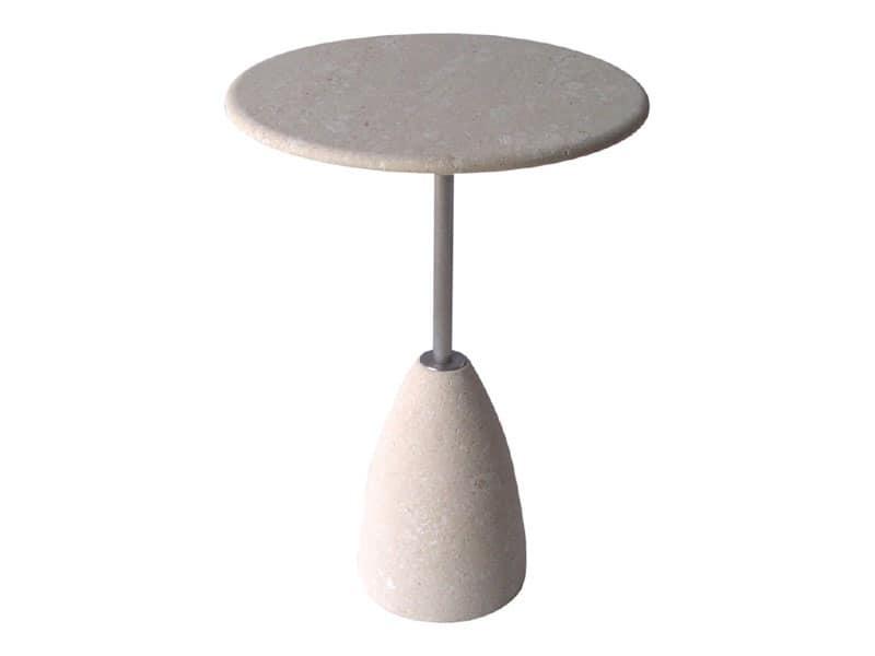 Element 2, Tavolo per bar, piano e base in pietra