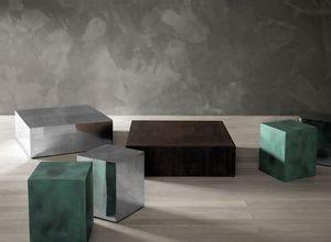 Al, Tavolino in alluminio spazzolato