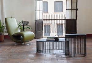 ANDRA, Tavolini rotondi per salotti, in metallo
