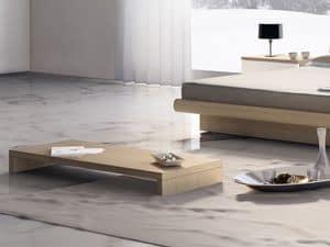 Complementi Tavolino Legno 05, Tavolino basso per centro sala, per alberghi moderni