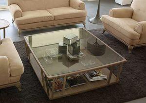 Dedalo tavolino, Tavolini moderni in legno e vetro