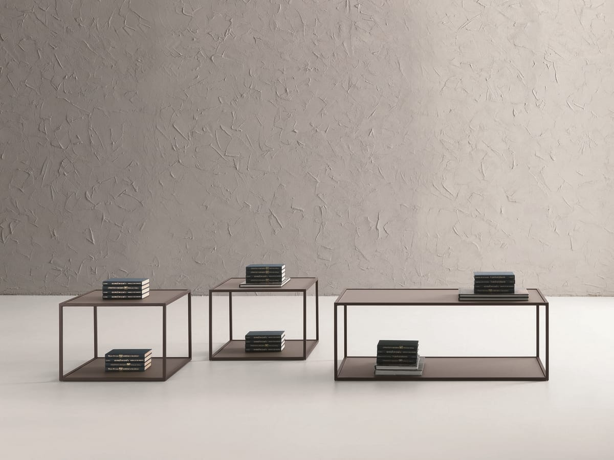 t112 square, Tavolino quadrato con due piani