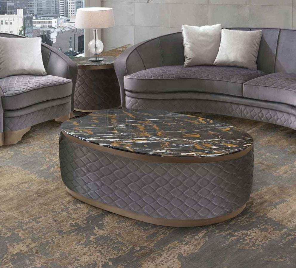Ceppo Di Legno Tavolino tavolino con struttura in tessuto trapuntato | idfdesign