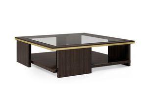 ART. 3367, Tavolino quadrato con piano in vetro fum�