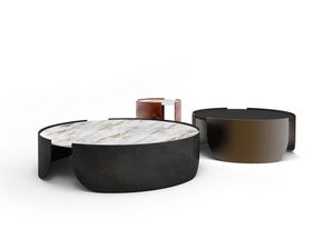 Atenæ tavolino, Tavolino tondo dal design minimal