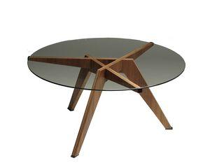 Boomerang 5601/N, Tavolino con piano in cristallo