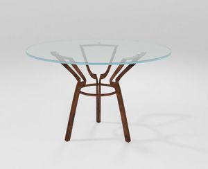 Cerchio, Tavolo con base in lama di ferro