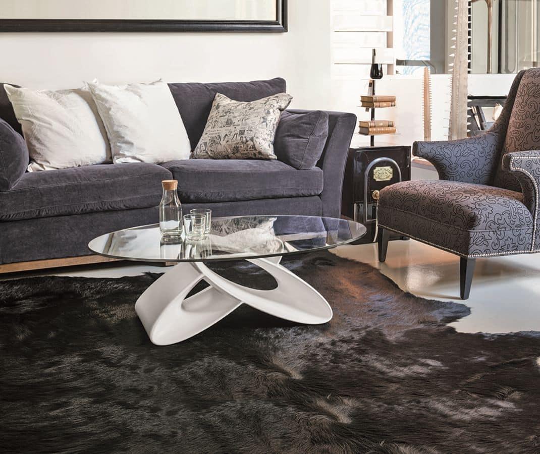 Tavolino ovale per salotti moderni  IDFdesign