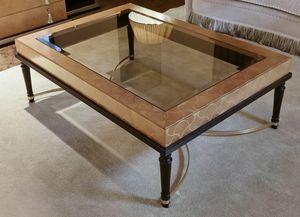 FLORA / tavolino rettangolare, Tavolino da salotto con piano in vetro